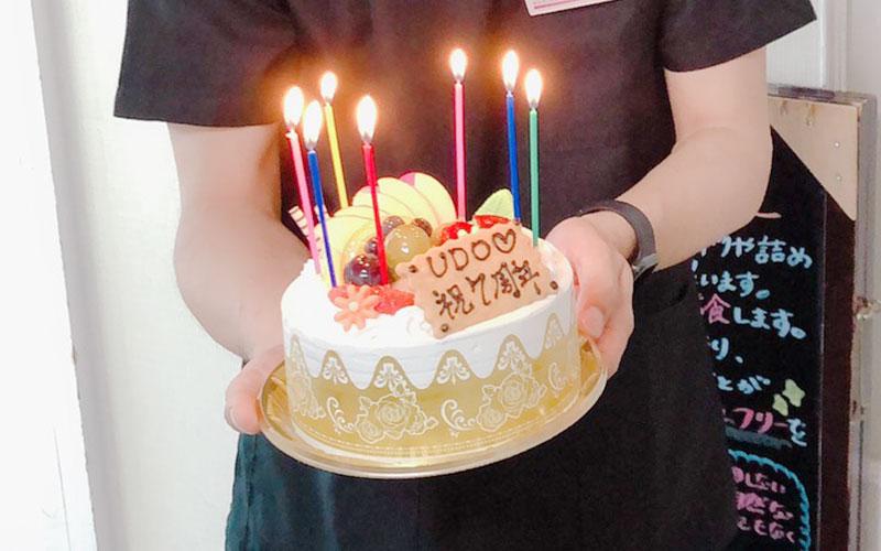 7周年記念ケーキ