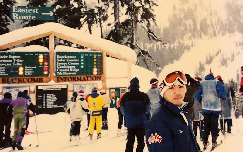 カナダでスノーボード